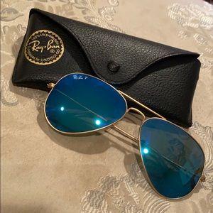 Ray-Ban Polarized Aviator Flash Sunglasses